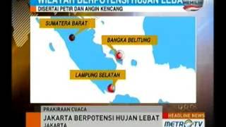 BMKG Hujan Lebat Disertai Petir Akan Landa Jakarta