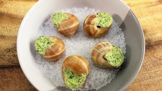 Escargots Snails In Garlic Butter - How To Cook Snails | All Time French Classics