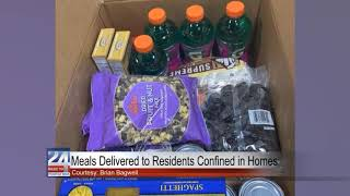 Meals Delivered to Residents Confined in Homes