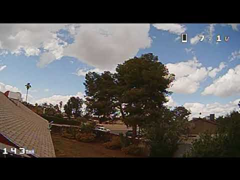 Eachine Trashcan Brushless Whoop Modded - FPV Outside House Extreme Windy Cloudy Day(EV100)