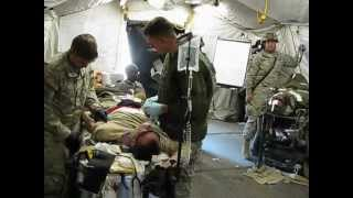 U.S. army 6th Engineer medics in action May, 2012