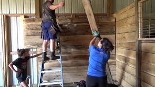 Horse Stall Building Part2