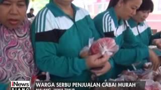 Warga Malang Serbu Bakti Sosial Yang Menjual Cabai Murah  INews Siang 14/01