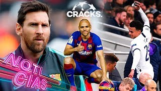 Messi revela qué jugadores admira su hijo Thiago. Resultados de la EUROPA LEAGUE. Futbolistas del Leipzig jugaron con camisetas diferentes. Esto y más ¡AQUÍ!  Suscríbete GRATIS a CRACKS: https://goo.gl/aK8cDH  La entrevista completa de Messi con Mundo Deportivo, aquí: https://www.youtube.com/user/canalmundodeportivo  ►Lo mejor del FÚTBOL MEXICANO en CRACKS MX: https://goo.gl/iFXBQv  ►CRACKS COLOMBIA: https://bit.ly/2MGJOV0  ►CRACKS ARGENTINA: https://bit.ly/2YiBU5C  ► Suscríbete a nuestro canal de FIFA, EA CACHO: https://bit.ly/31txwTj  ¡Síguenos en las redes!   ►Twitter Cracks: https://twitter.com/cracks_oficial ►Facebook: https://goo.gl/s1Oene ►Instagram: https://www.instagram.com/cracks_ig/?hl=es