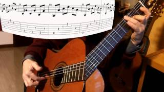 Traditional: MALAGUEÑA - study (easy) for arpeggios (sheet music available)