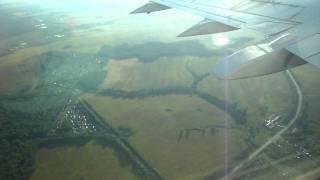 Взлет самолета из Домодедово