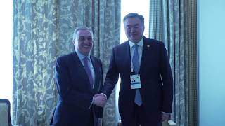 The meeting of Foreign Minister Zohrab Mnatsakanyan with Mukhtar Tleuberdi, the Foreign Minister of Kazakhstan