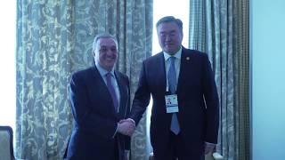 ԱԳ նախարար Զոհրաբ Մնացականյանի հանդիպումը Ղազախստանի ԱԳ նախարար Մուխտար Թլեուբերդիի հետ