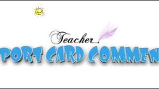 Report Card Comments by Timesavers For Teachers