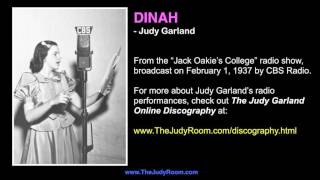 "Judy Garland sings ""Dinah"" - Rare 1937 Radio Performance"