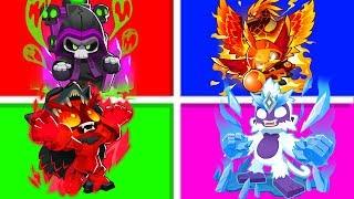 Bloons TD 6 - 4-Player Legendary Pokemon Challenge   JeromeASF