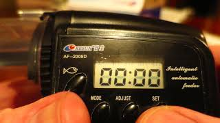 Setting The Resun AF2009D Auto Fish Feeder Timer