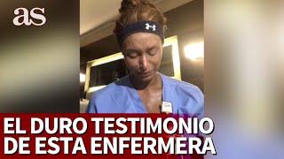 Llora enfermera por tragedia en hospital de Nueva York