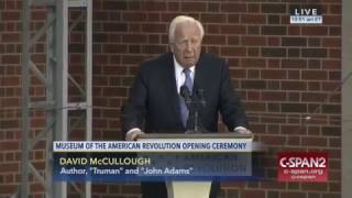 Museum of the American Revolution Opening Ceremony - David McCullough