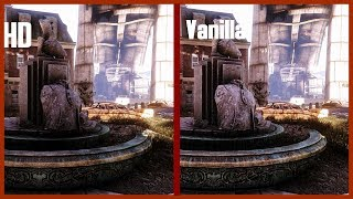 4K Fallout 4 Mod Showcase comparison  Statues HD