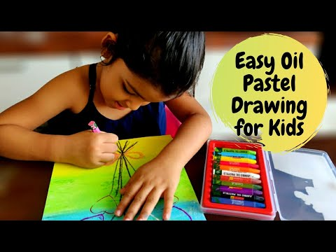 Easy Oil Pastel Drawing for Kids | Oil Pastel Art for Kids | Part 4