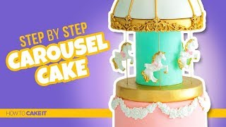 How To Make A BEAUTIFUL Carousel Cake by Joni Kwan   How To Cake It Step By Step