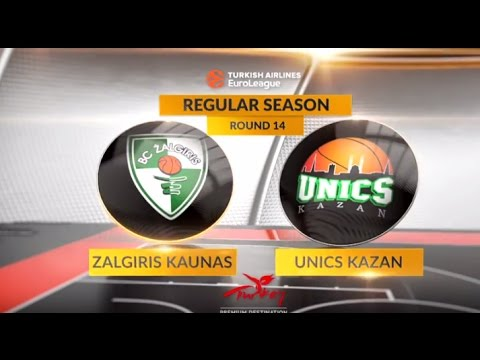 EuroLeague Highlights RS Round 14: Zalgiris Kaunas 80-88 Unics Kazan