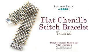 The Ultimate Guide To Flat Chenille Stitch Bracelet - DIY Jewelry Making Tutorial By PotomacBeads