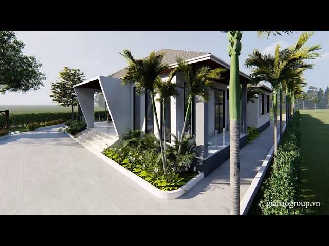 Thiết kế biệt thự vườn phong cách hiện đại, độc đáo tại Củ Chi
