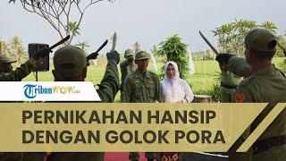 Viral Pernikahan Hansip Digelar Bak Perwira TNI-Polri, Ada Golok Pora hingga Didatangi Anggota DPR