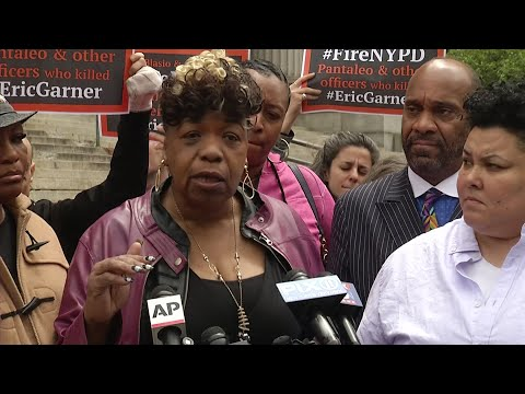 A New York City judge is allowing a police disciplinary case to proceed against the white police officer accused in the 2014 chokehold death of Eric Garner. (May 9)