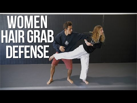 How To Defend Against Hair Grab Self Defense Technique