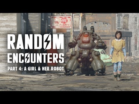 Random Encounters of Fallout 4 Part 4: A Girl & Her Robot - Plus Many More