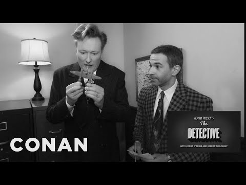 Conan a Jordan Schlansky v roli detektivů