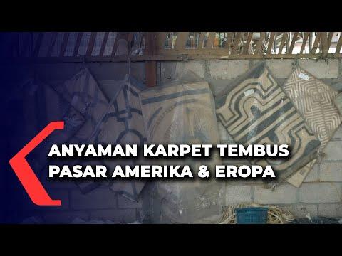 anyaman karpet dari serat pisang abaka menembus pasar eropa dan amerika