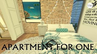 The Sims 4 | Apartment for One - CC Speed build