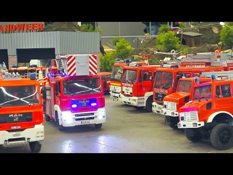 RC MODEL FIRE TRUCK ACTION!! STUNNING RC FIRE RESCUE TRUCKS IN MOTION