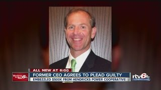 Former CEO agrees to plead guilty to embezzlement