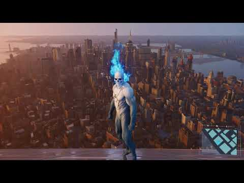 Spider-Man PS4 - Jumping Off Highest Building In Spirit Spider Suit (All Weathers) PS4 Pro