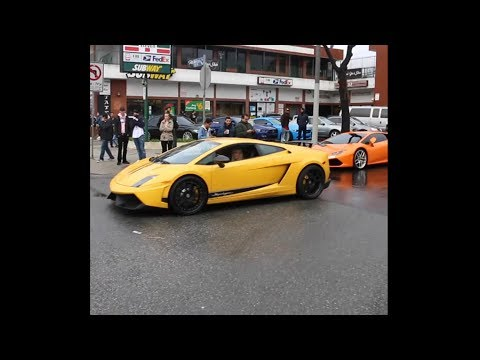 guy shows off lamborghini, gets instant karma..