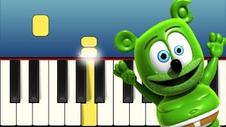 The Gummy Bear Song - Very Easy and Slow Piano tutorial