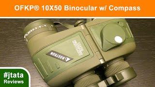 Binocular, Waterproof Shockproof 10X50 Binocular with Compass from OFKP®