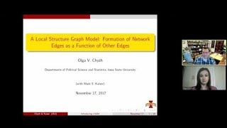 "Olga Chyzh, ""A Local Structure Graph Model: Formation of Network Edges as a Function of Other Edges"""