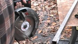 Cutting 1/8th inch steel plate with Circular saw