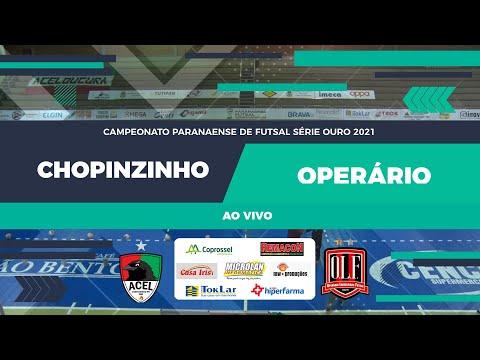 Jogo Acel Chopinzinho 03 x 01 Operário Laranjeiras Campeonato Paranaense Chave Ouro