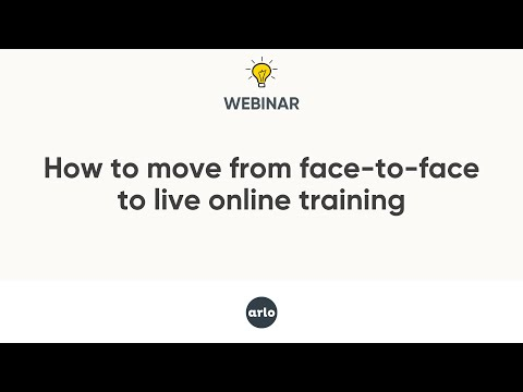 Webinar: Moving from face-to-face training to live online - APAC ...