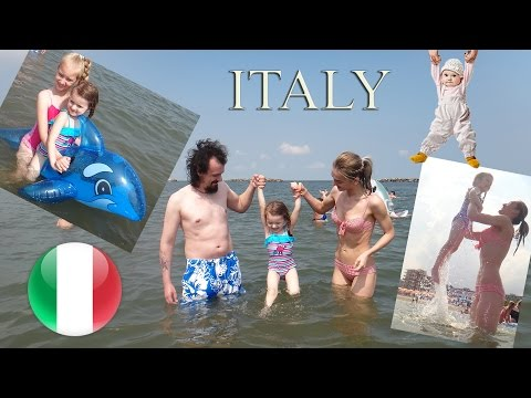 FAMILY FUN TRIP TO BEACH playtime in the sand Kids Video | Lido delle Nazioni Italy | Kate Claudia ✔