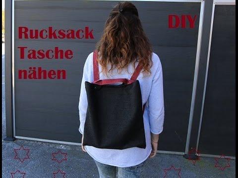 DIY: Rucksack-Tasche nähen, 2in1 / EasyPeasy / Rucksack und Umhängetasche