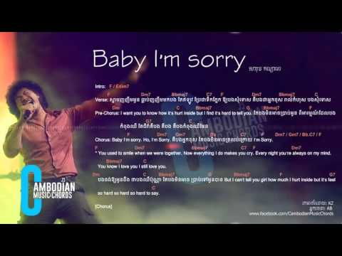 Jimmy Kiss Baby I M Sorry Lyric And Chords By Cambodian Music Chords