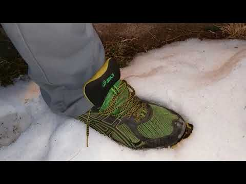 Asics Gel-Kahana 6 Running Shoes In The Snow-And Nike Air Max
