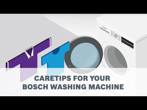 Care tips for your Bosch Washing Machine