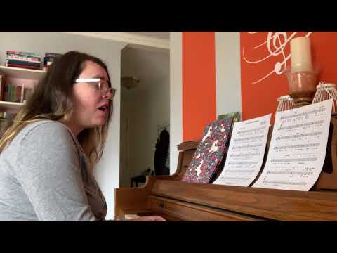 Top of the World practice video for voice students