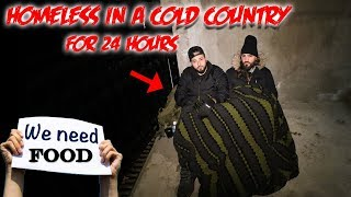 I SPENT THE NIGHT HOMELESS IN THE FREEZING COLD // 24 HOUR OVERNIGHT CHALLENGE HOMELESS!
