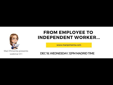 From Employee to Independent Worker<br />Can you acquire your own clients?  Can you vary your sources of income?  Are you an expert at what you do?  Can you transition in and out of different formats of work contracts?  How do (or would) you acquire new clients?  Could your employer be your client?  Who would you become solo?  Do you need your company brand?  In today's work world, we need to be Independent. Even if we are an employee. Otherwise, we'll be dead soon. The work future belongs to those who can be independent, flexible, who can create