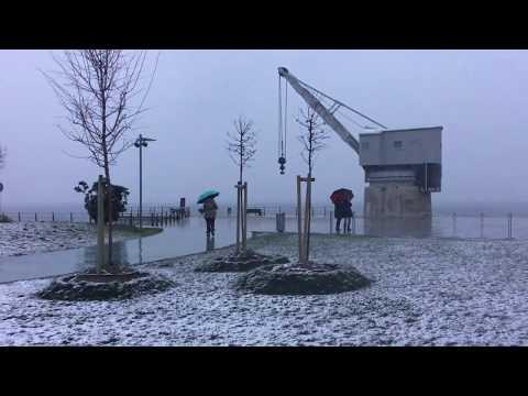 Santander se despierta bajo un manto de nieve